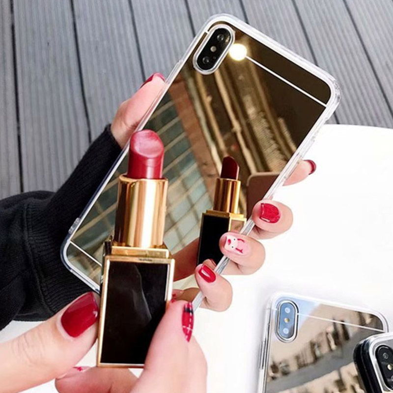 luxury mirror soft tpu back phone case for <font><b>Huawei</b></font> <font><b>y5</b></font> y6 y7 pro y9 prime 2017 2018 <font><b>2019</b></font> <font><b>silicone</b></font> rubber coque cases cover <font><b>Capa</b></font> image