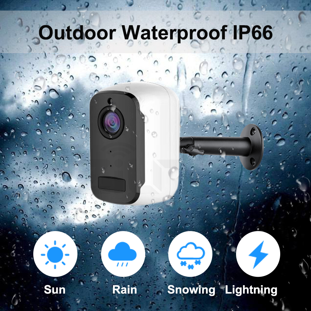 Image 5 - 1080P WIFI Camera Outdoor Rechargeable Battery Powered 2MP Wireless IP Camera Security PIR Waterproof 110 Wide View Angle Tosee-in Surveillance Cameras from Security & Protection
