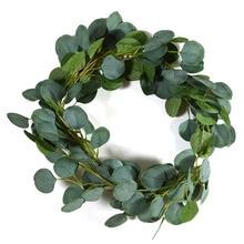 2m Wedding Decoration Artificial Green Eucalyptus Vines Rattan Fake the Plants Ivy Wreath Wall Decor Vertical Garden