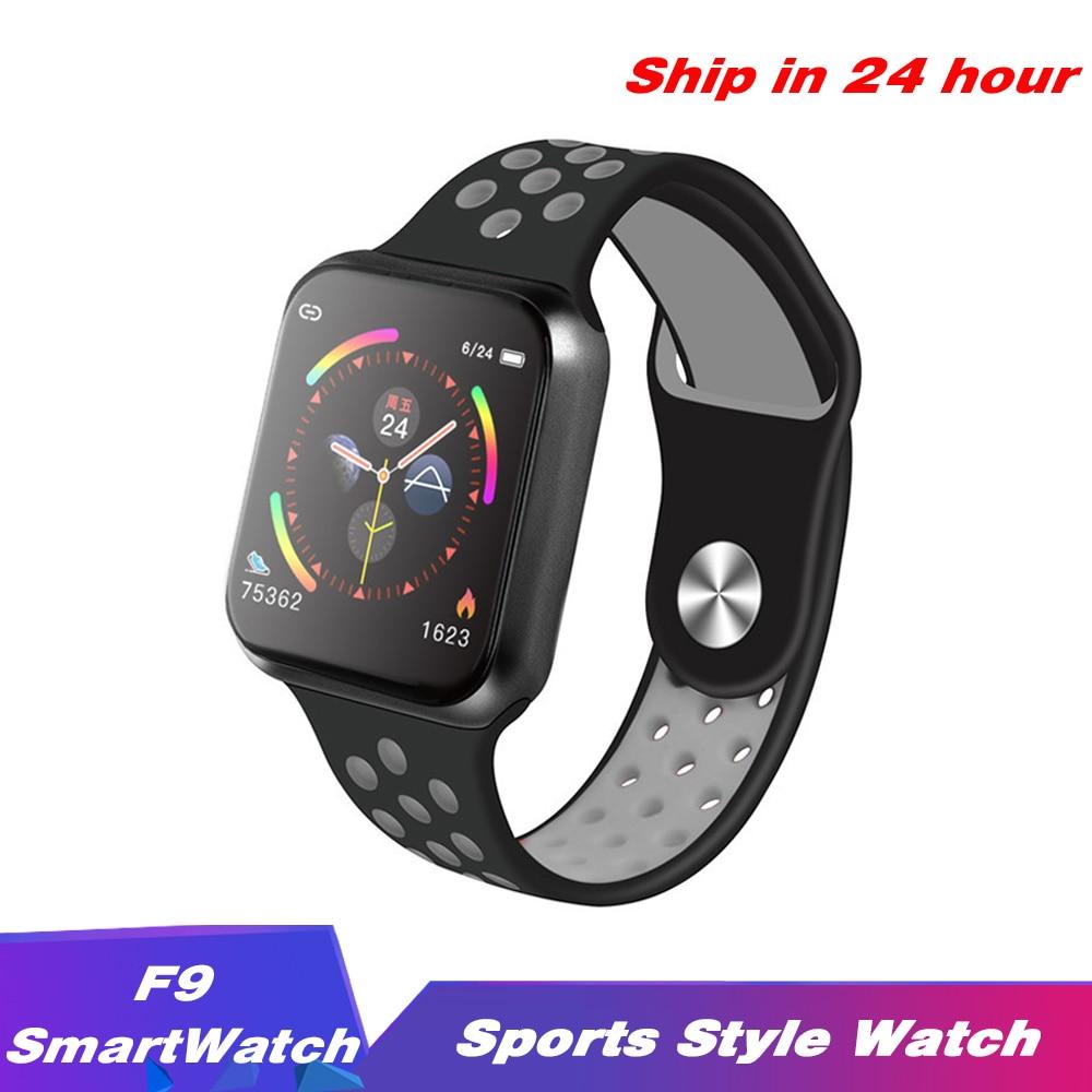 F9 Sport Smart Watch  IP67 Waterproof  Heart rate Full Touch Screen Men Women Smartwatch for Apple Android Watch PK F8 w34 iwo 8