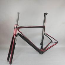 2021 benutzerdefinierte malerei Flache Montieren disc carbon road rahmen Fahrrad Frameset T1000 Neue EPS technologie disc carbon rahmen TT X19