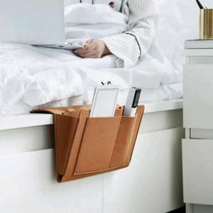 Storage-Organizer Mobile-Phone Felt with 2-Inner-Pockets for Bed Sundries-Book Hanging