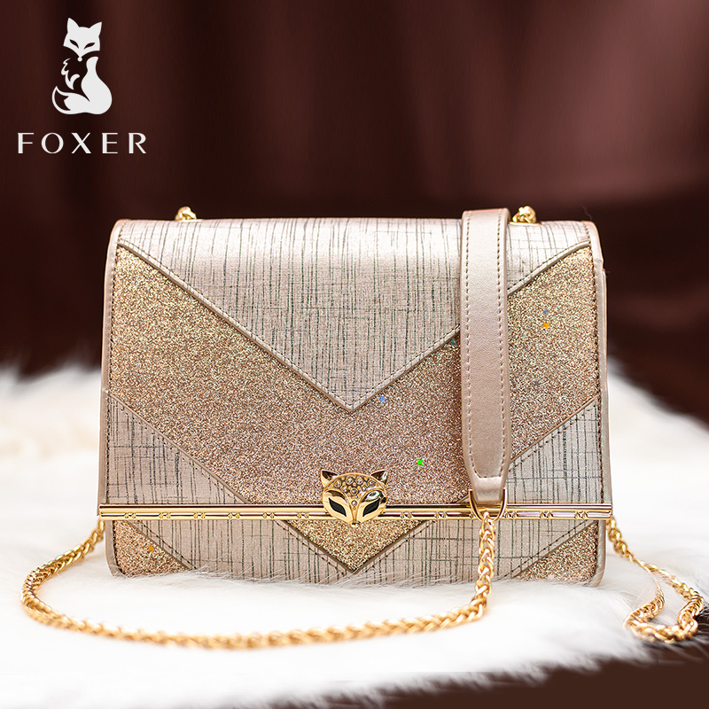 FOXER Brand Classic Design Exclusive Original Women Shoulder Strap Bags Patchwork Flap Lady Korean Style Small Crossbody Bags