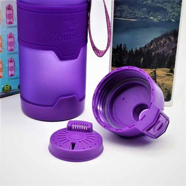 Kapasitas Besar Shaker Botol Air Olahraga Kreatif Minum Berkemah Tur Saya Minum Botol Air 1000 Ml Tritan Plastik Air Minum
