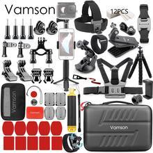 Vamson para gopro 9 acessórios conjunto para go pro herói 9 8 7 6 5 kit de montagem para sjcam para dji osmo ação para yi 4k para eken h9 vs84