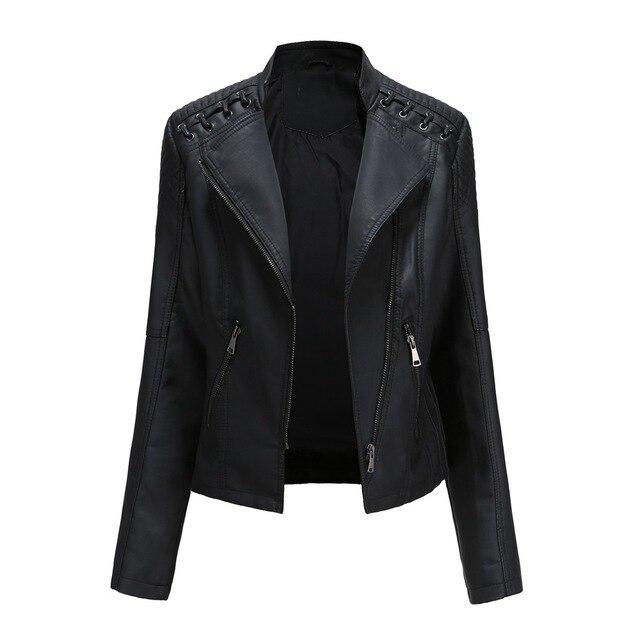 Купить куртка женская байкерская облегающая из искусственной кожи на картинки цена