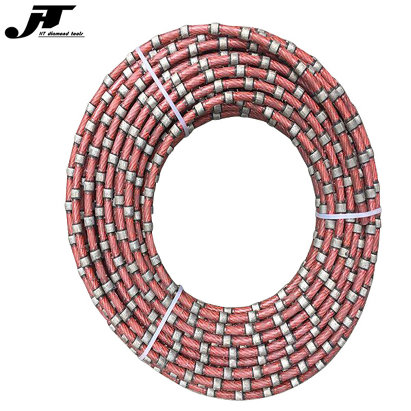 8.8MM High Quality Closed Loop Plastic Diamond Wire for Marble Block Cutting Squaring Looped Wire Rope 1 Meter Free Shipping