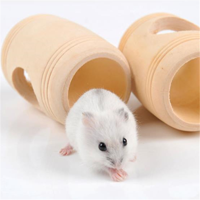 1PC Hamster Small Animal Wooden Cage Bed Toy House Rat Hamsters Mouse Wooden Pet Supplies EJ993707