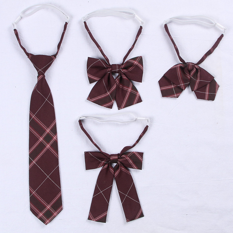 2020 Jk Bow Tie Plaid Uniform Collar Butterfly Cravat Japanese High School Girls Students Preppy Chic Free Of Tying A Check Knot