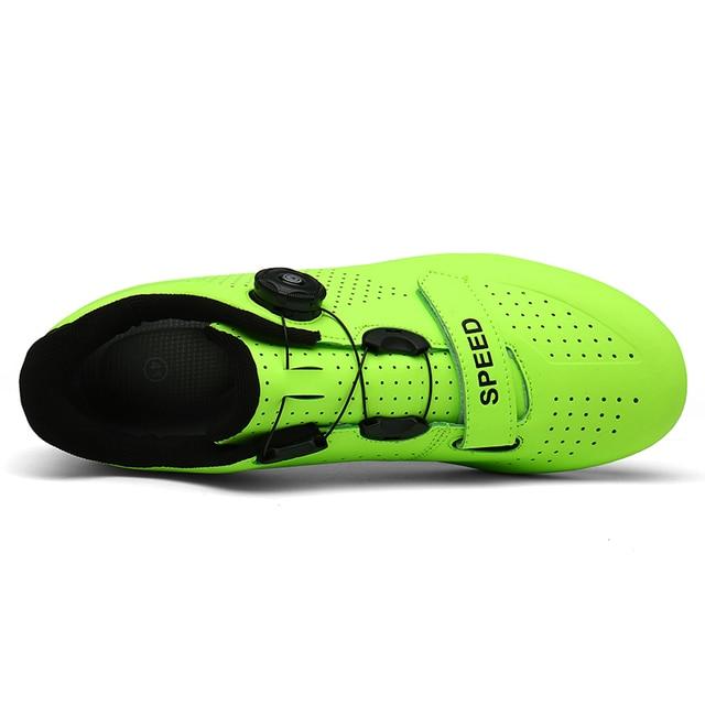 Sapatos de ciclismo homem profissional velocidade estrada bicicleta apartamentos unisex esporte ao ar livre tênis mulher sapatilha zapatillas hombre 3