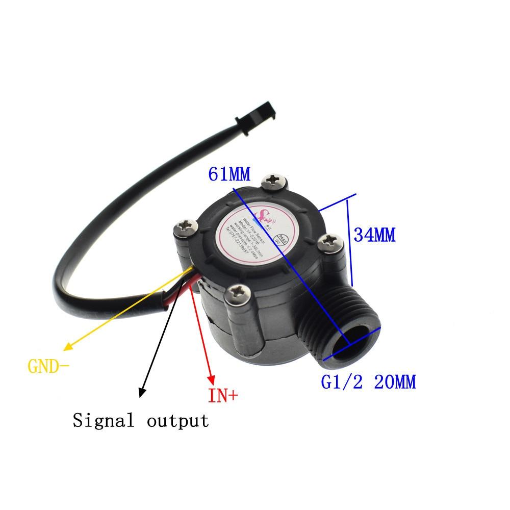 Water flow sensor flowmeter Hall flow sensor Water control 1-30L/min 2.0MPa YF-S201