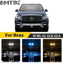 BMTxms Canbus For Mercedes Benz M ML GL GLK GLA W163 W164 W166 X164 X166 X156 X204 Car LED Interior Dome Map Trunk Light Kit