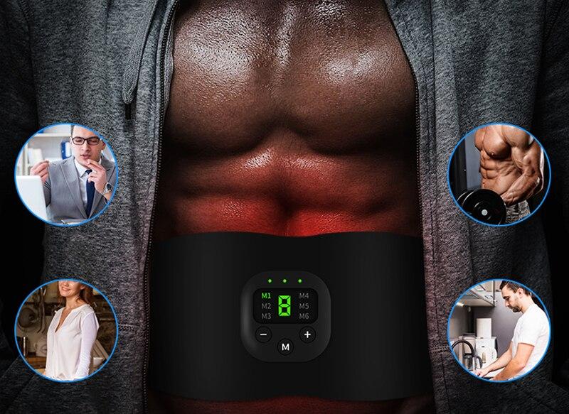 Беспроводной стимулятор мышц живота тренажер перезаряжаемый Электрический потеря веса Вибрационный пояс для похудения фитнес-оборудование