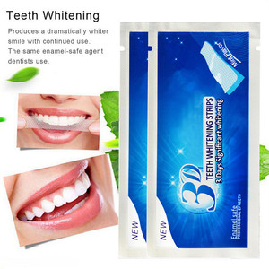1Pc Teeth Whiten Patch Mint Flavor Teeth Whitening Strips Oral Care Dental Bleaching Tooth Whitening Gel Strip Tool TSLM1