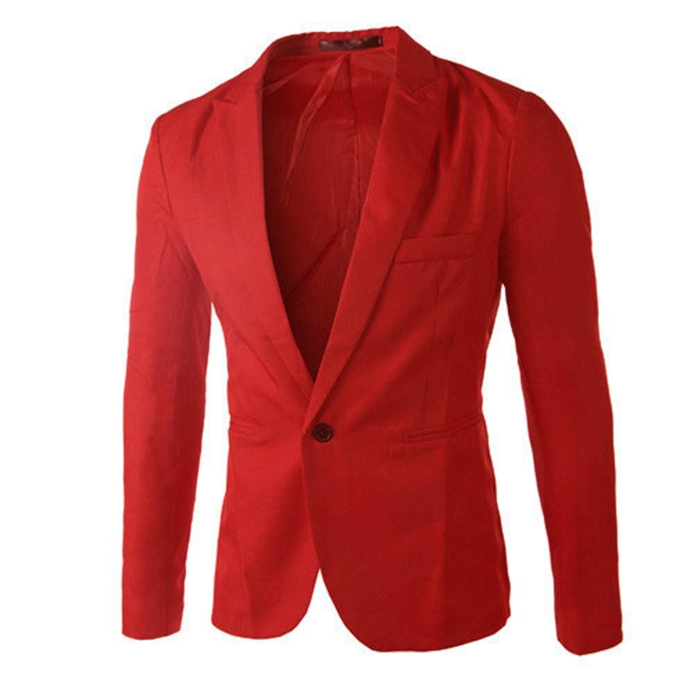 Charm Mens slim fit fashion cotton blazer Suit Jacket black blue plus size M to 3XL Male blazers Mens coat Wedding#G2