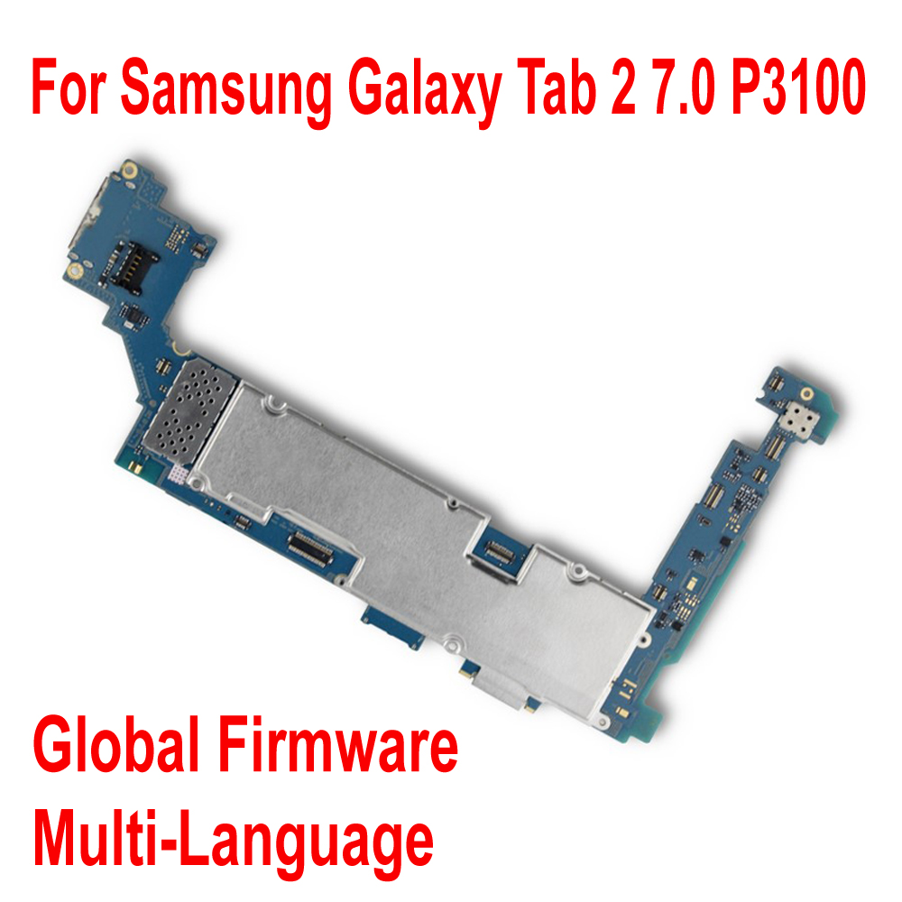Global Firmware Original <font><b>Motherboard</b></font> For <font><b>Samsung</b></font> Galaxy Tab 2 7.0 <font><b>P3100</b></font> WiFi & 3G Mainboard Circuits Card Fee Flex Cable image