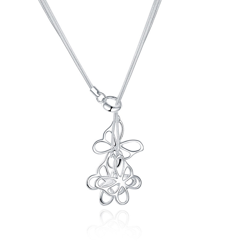 TN043 pendentif papillon 925 en argent Sterling pour les femmes collier de mariage bijoux