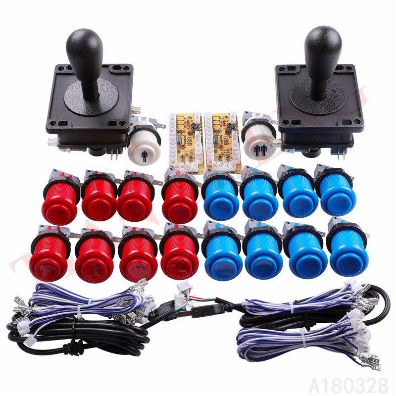 Классическая аркадная игра DIY части для Mame USB Кабинета 2xzero задержка USB энкодер + 2x 8Way аркадный джойстик + 18 x Happ стиль кнопки