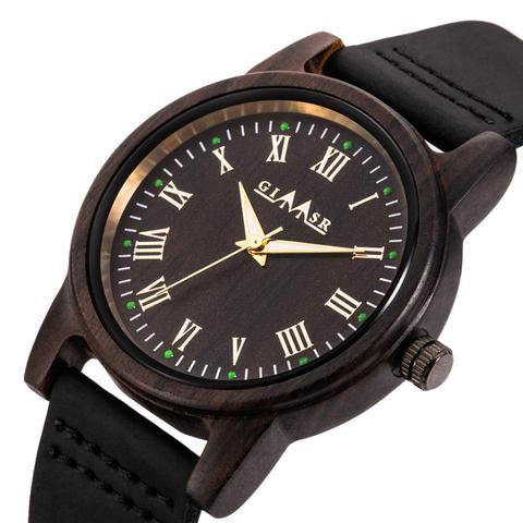 Marca de Luxo Relógio de Madeira de Madeira de Sândalo Relógios de Pulso com Pulseira de Couro Transporte da Gota Mens Relógios Mulheres Relógio Masculino Top