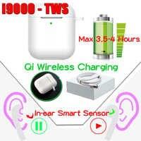 Original i9000 tws sensor inteligente aire 2 auriculares bluetooth fone de ouvido sem fio fones fone de ouvido i12 i50000tws pro elari