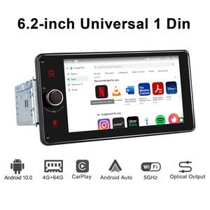 Image 4 - Android 10.0 4GB + 64GB 6.2 inç kafa ünitesi Octa çekirdek 1 din evrensel araba radyo çalar GPS navigasyon video stereo FM desteği 4G BT