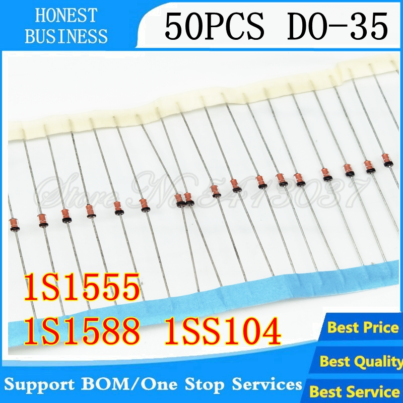 50PCS/LOT 1S1588 IS1588 1S1555 IS1555 1SS104 ISS104 DO-35 In Stock Best Quality