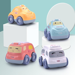 Children Early Childhood Educational Pull Back Car Toy Car Package Boy Drop-resistant Inertia Car Baby Small Car 1-3 Years Old
