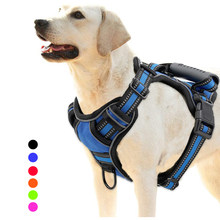 Dog Harness No Pull Adjustable Breathable Pet Harness Vest For Small Large Dog Outdoor Running Dogs Training Supplies