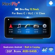NaviFly IPS Bildschirm 8 core Android 10 Auto GPS Navigation-player Für benz C-Klasse W205/GLC-klasse X253/V-Klasse W446 2015-2018