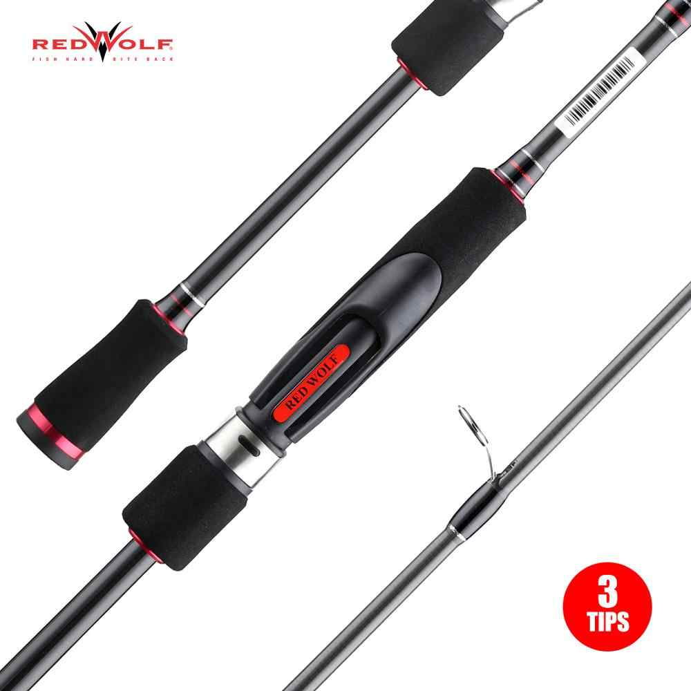 Redwolf TAV Spinning Rod 3 เคล็ดลับM MH ML 2 ส่วนCarbon Casting Rod Travel 1.98M 2.13M 2.44M Fishing Rodปิด