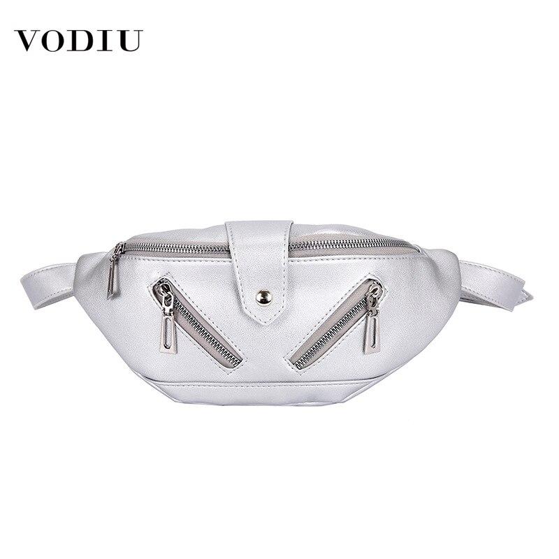 Waist Bag Women Fanny Packs Chest Handbag Leather Purse Fashion Large Capacity Phone Purses Banana Female Belt Women Waist Bag