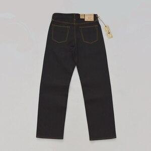 Image 2 - BOB DONG Schwarz Schwergewicht Selvage Denim 23 unzen Jeans Für Männer Regelmäßige Gerade Fit