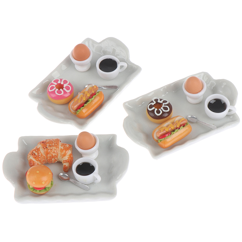 DIY Simulation Coffee Cake Figures Food Dessert Miniature Figurine Pretend Play Kitchen Toy Baby Gift Doll House Accessories