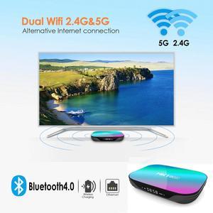 Image 5 - HK1 kutusu Amlogic S905X3 akıllı Android 9.0 TV kutusu 4GB RAM 32GB 64GB 128GB ROM 2.4G 5G wifi Bluetooth 4K UHD Set Top Box vs H96 MAX
