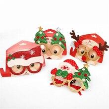 Christmas Children's Glasses Kids New Year Gift Birthday Party Dance Xmas Toys Santa Snowman Antler