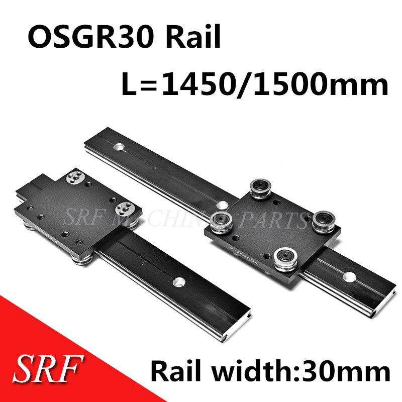 Rail de guidage linéaire à rouleaux carrés à grande vitesse OSGR30 L = 1450/1500mm bloc de roulement de guidage linéaire à deux axes OSGB30UU