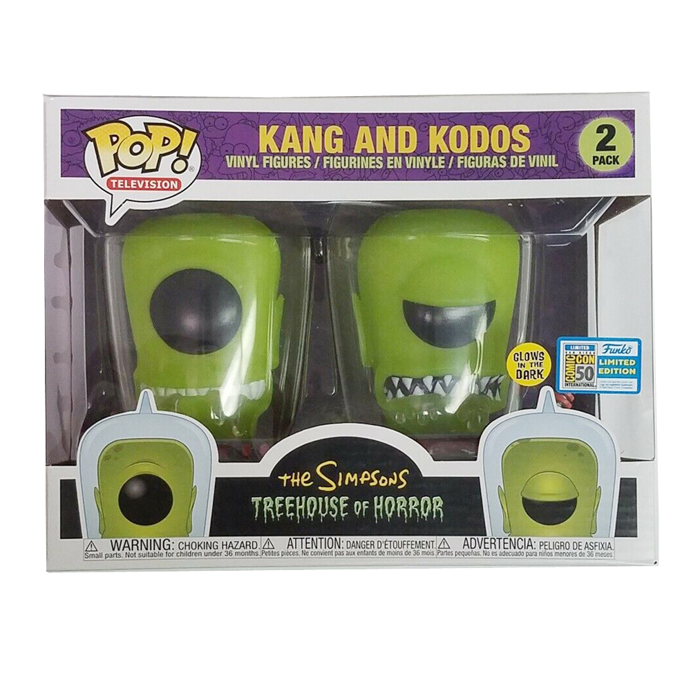 Funko POP The Simpsons Glow In The Dark Cartoon Anime Treehouse Of Horror Kang And Kodos Vinyl Action Figures Model Toys
