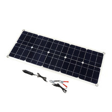 100W 18V Dual USB Solar Panel Battery Charger for Boat Car Home Camping Hiking(China)