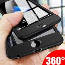 Роскошный чехол для телефона с углом обзора 360 градусов для iPhone 7 8 6 6s Plus 5 5s SE, защитный чехол для iPhone X XR XS Max 10, чехол со стеклом