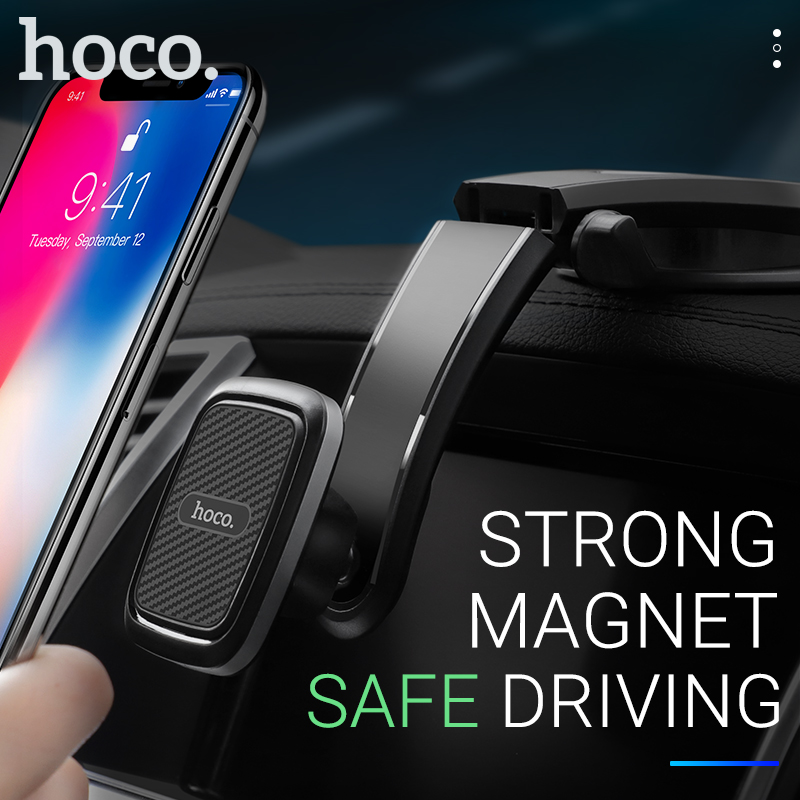Hoco Phone Holder Car Mount Stand Magnetic Smartphone Grip In Car Stand Holder Mini Magnet Universal For Iphone Samsung Xiaomi