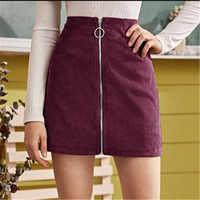 Moda feminina sexy veludo mini bodycon saias para mulheres estilo preppy senhoras zíper lápis saias feminino vendido saia de cintura alta