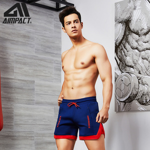 Image 4 - Aimpact Fashion Casual Shorts for Men Athletic Running Workout Gym Training Shorts Sport Soft Homewear Short Trunks AM2209