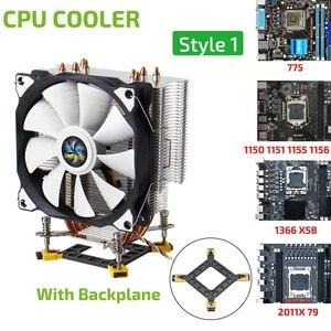4 медные тепловые трубки кулер для процессора вентилятор тихий 12 см вентилятор охлаждения Радиатор кулер радиатор для 775 115x1366X58X79 2011X99X299