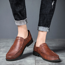 Shoes Male Sneakers Genuine-Leather High-Quality Moccasin Loafers Men Slip-On Oxfords