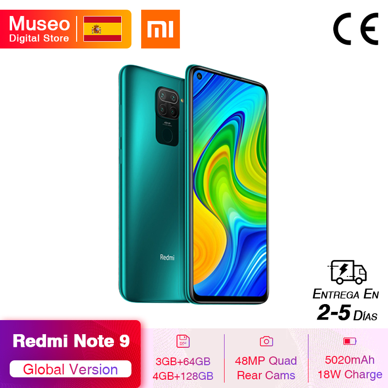 Global Version Xiaomi Redmi Note 9 4GB 128GB Smartphone Helio G85 Octa Core 48MP Quad Rear Cam 6.53