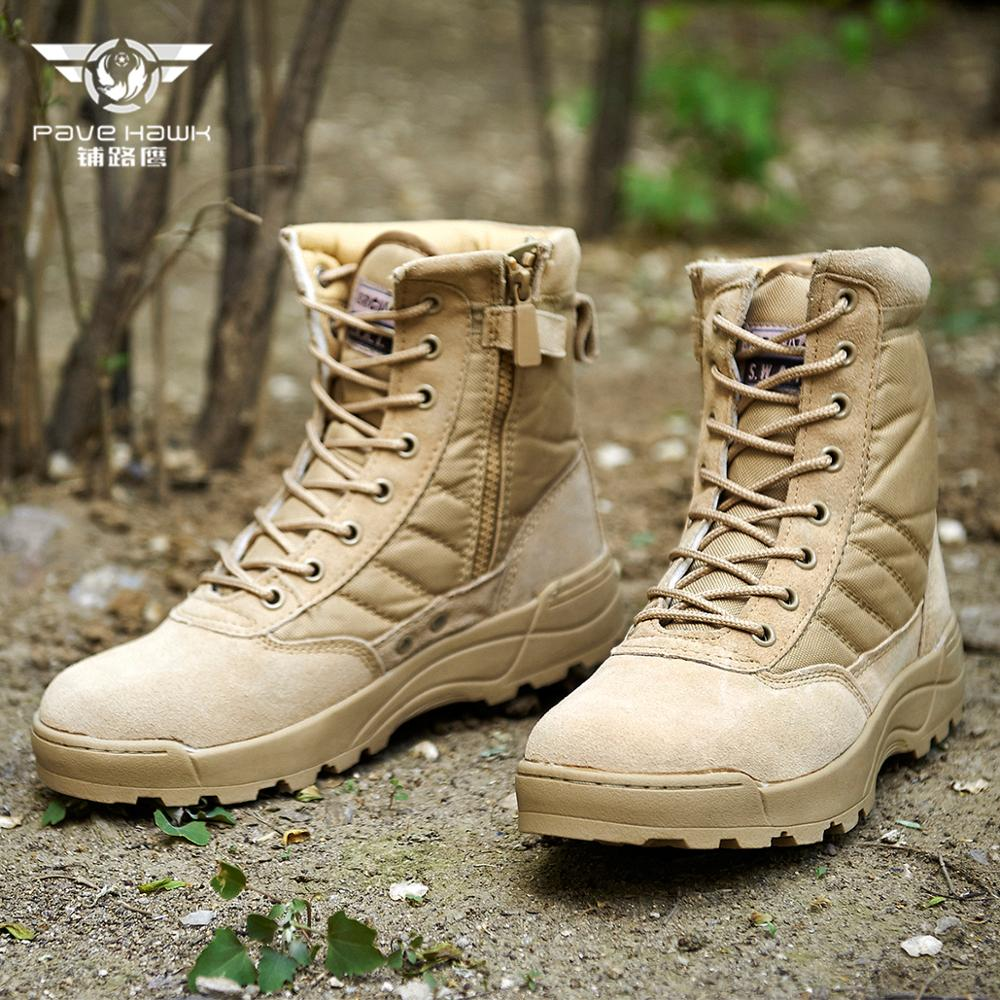 SWAT Sneakers Desert Tactical Military Boots Men Special Force Uniform Work Safety Shoes Army Boot Zipper Combat Boots Women