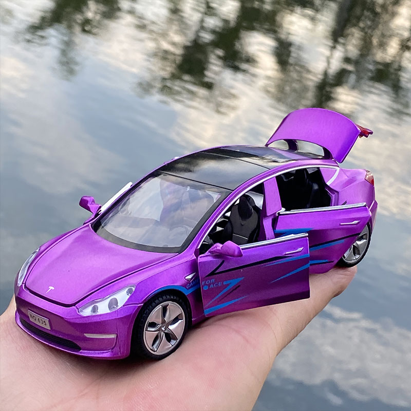 2021 New 1:32 Tesla MODEL X MODEL 3 MODEL S Alloy Car Model Diecasts Toy Vehicles Toy Cars Kid Toys For Children Gifts Boy Toy 5