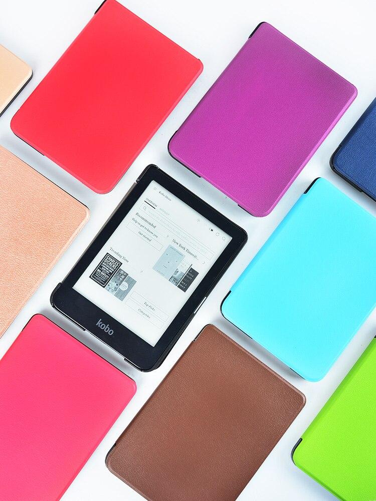 Тонкий чехол для электронной книги Kobo Clear HD 6 дюймов N249, умный защитный чехол, чехол из искусственной кожи с функцией автоматического сна/пробуждения-5