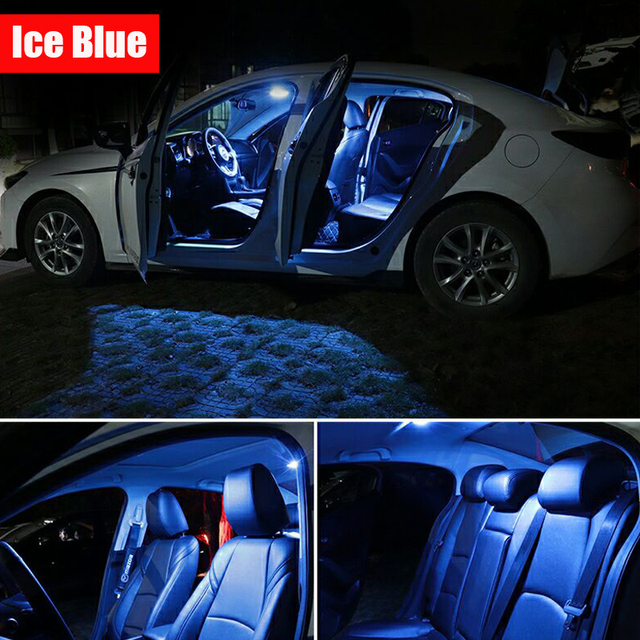 9 Bulbs White Canbus Interior LED Car Light Kit Fit For Chrysler 200 2011 2012 2013 2014 Map Dome Cargo License Lamp No Error 6