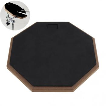Dumb Drums 12 Inch Black Rubber Wooden Dumb Drum Practice Training Drum Pad for Jazz Drums Exercise Hot dp 850 practice drum pad lightweight and portable design cherub